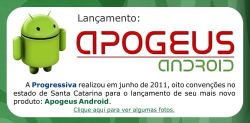 Lançamento Apogeus Android - Convenções 06-11