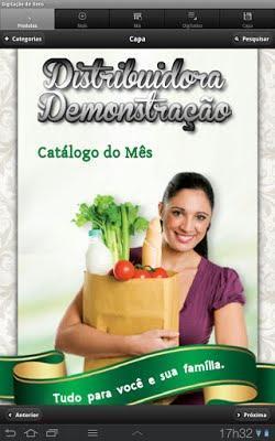 Capa do catálogo demonstração.